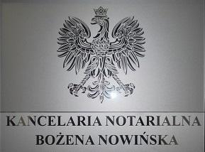 Kancelaria Notarialna Bożena Nowińska